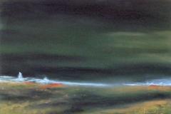 Einfahrt nach Hirtshals - Dänemark - Pastell 2005 - 65 x 50